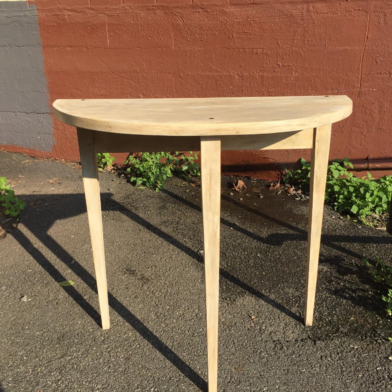 Handmade Demilune Side Table