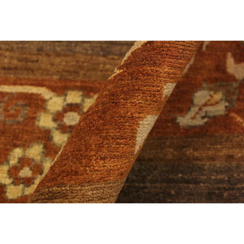 Arshs Fine Rugs Gabbeh Nilda Brown Rust Wool Area Rug Aptdeco