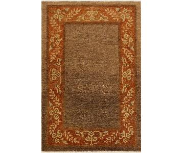 Arshs Fine Rugs Gabbeh Nilda Brown/Rust Wool Area Rug