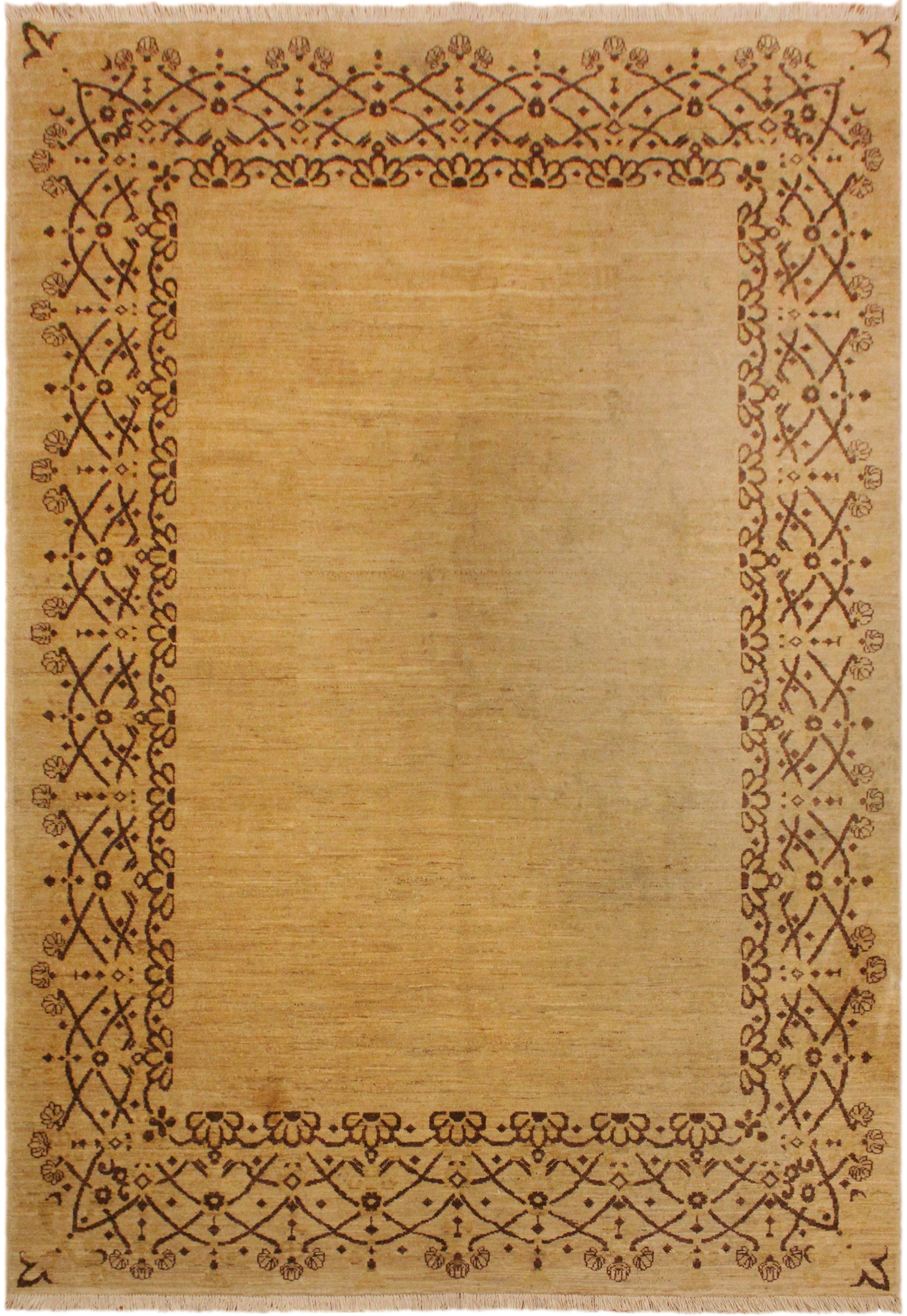 Arshs Fine Rugs Gabbeh Nakia Tan/Brown Wool Area Rug