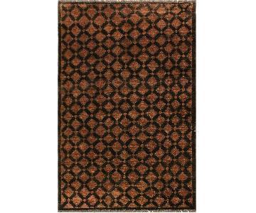 Arshs Fine Rugs Gabbeh Brenna Black/Brown Wool Area Rug