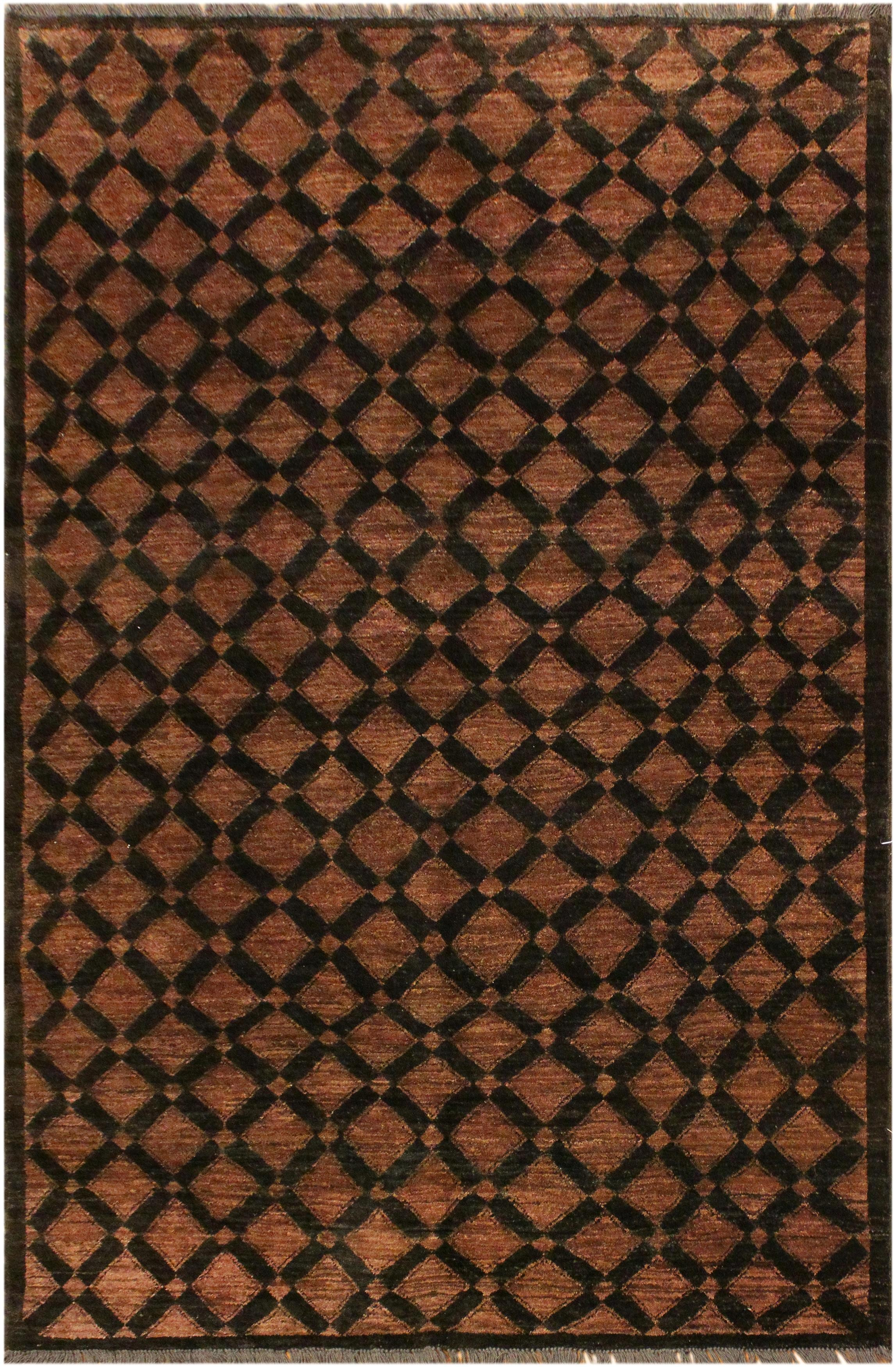 Arshs Fine Rugs Gabbeh Brenna Black/Brown Wool Area Rug