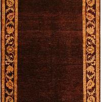 Arshs Fine Rugs Gabbeh Joe Brown/Red Wool Area Rug