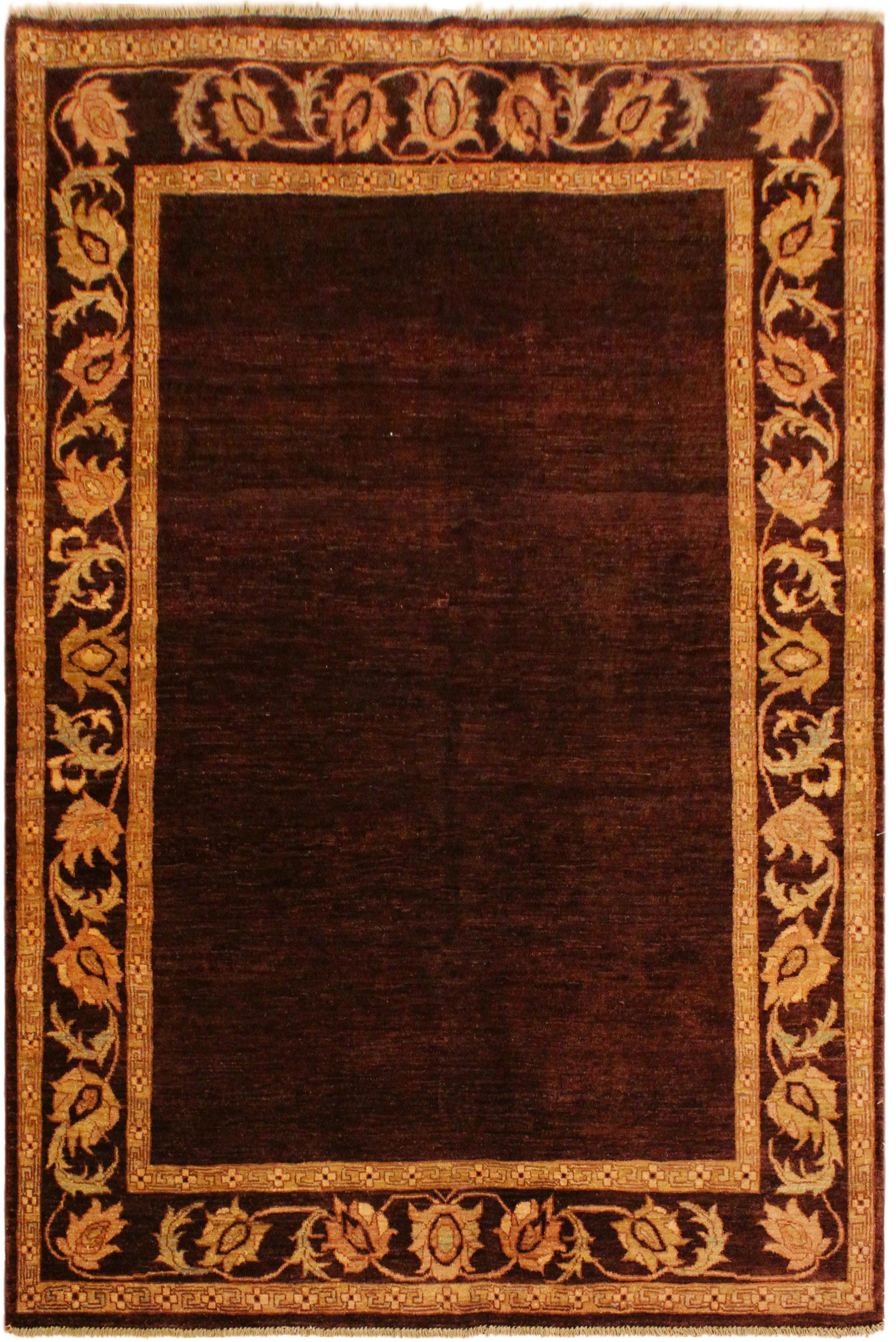 Arshs Fine Rugs Gabbeh Joe Brown/Red Wool Area Rug
