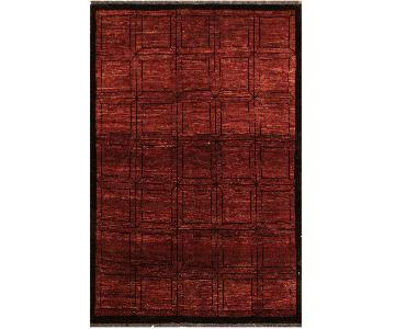 Arshs Fine Rugs Gabbeh Leisha Red/Black Wool Area Rug
