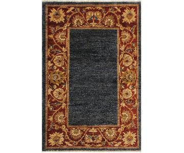 Arshs Fine Rugs Gabbeh Kenneth Blue/Red Wool Area Rug