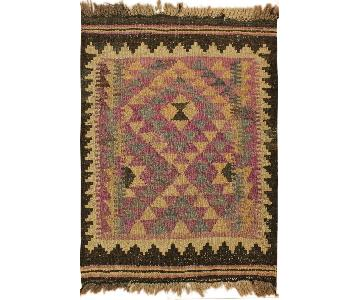 Arshs Fine Rugs Sammy Purple/Brown Hand-Woven Kilim Wool Rug