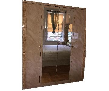 Italian Marble 4-Door Armoire