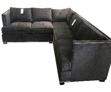 Mitchell Gold + Bob Williams Keaton Sectional in Charcoal