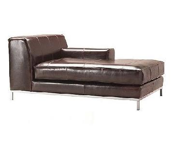 Ikea Kramfors Leather Right Chaise Lounge