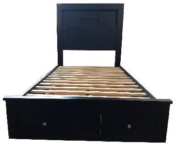 Ashley Twin Size Wood Bed Frame w/ Storage