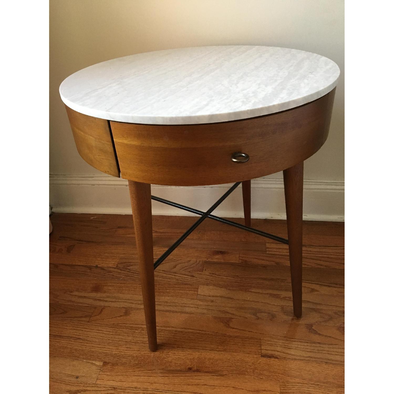 West Elm Penelope Large Nightstand in Acorn/Marble-0