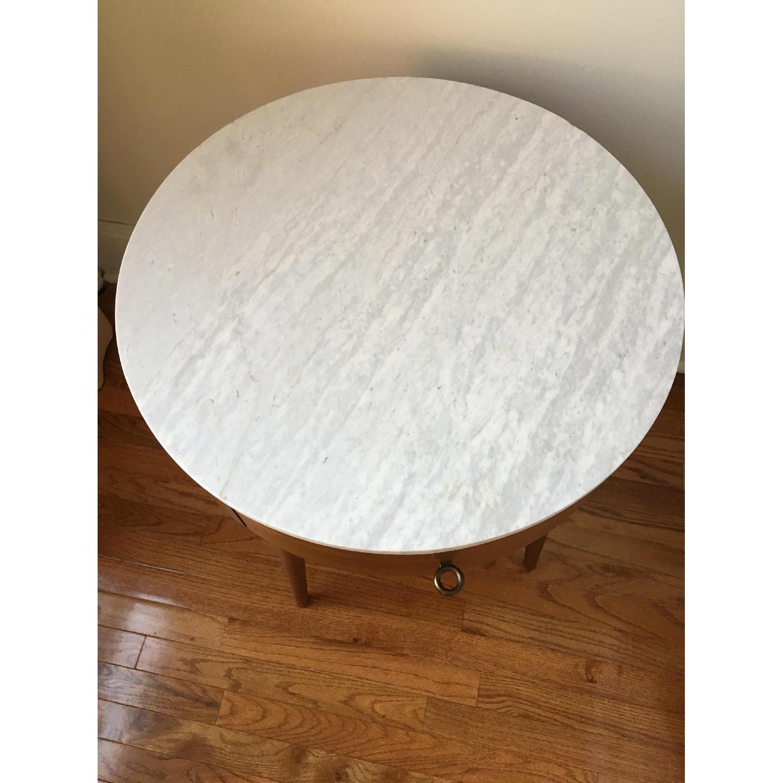 West Elm Penelope Large Nightstand in Acorn/Marble-2