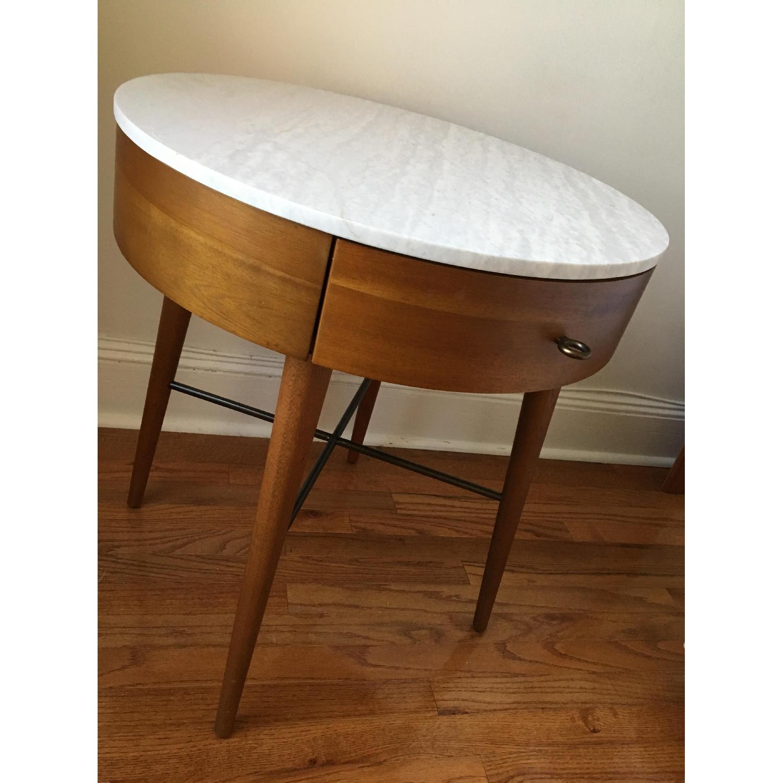 West Elm Penelope Large Nightstand in Acorn/Marble-4