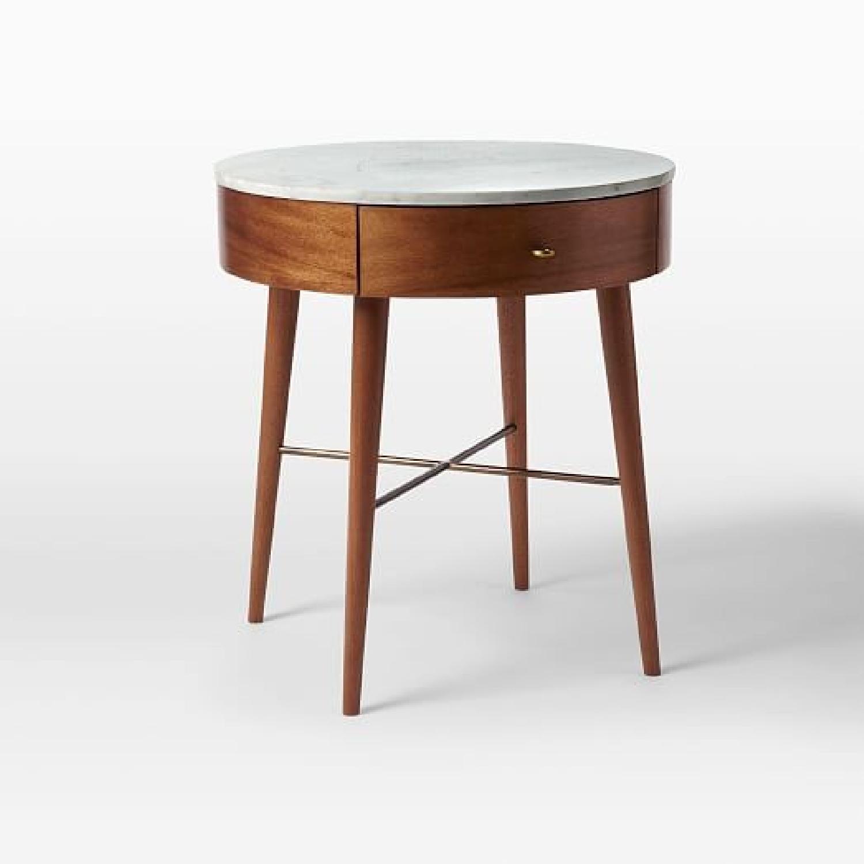 West Elm Penelope Large Nightstand in Acorn/Marble-5