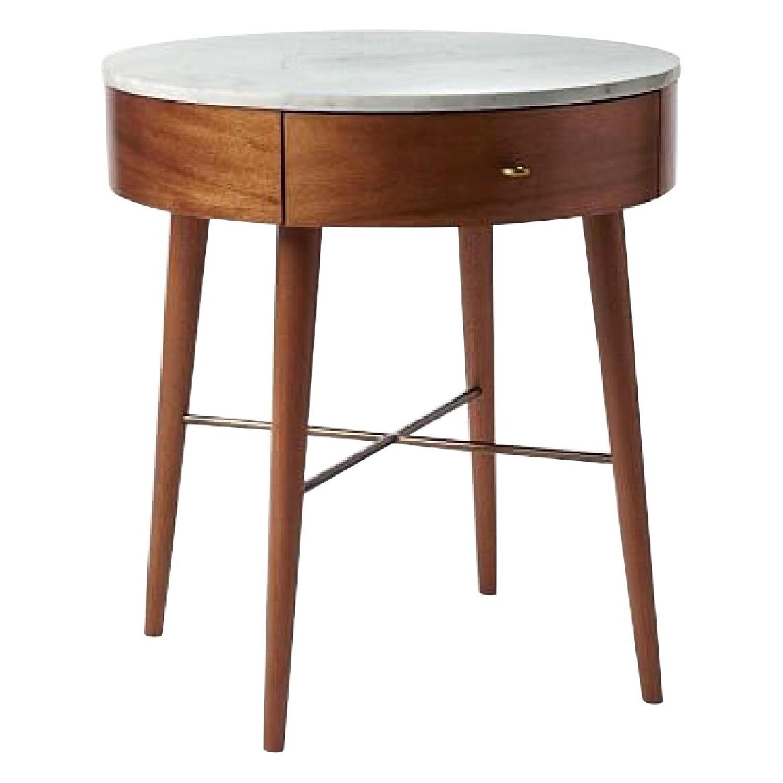 West Elm Penelope Large Nightstand in Acorn/Marble