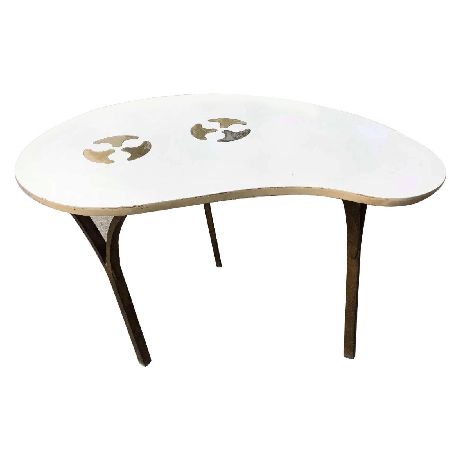 Mid Century S Kidney Shaped Coffee Table AptDeco - Mid century modern kidney shaped coffee table