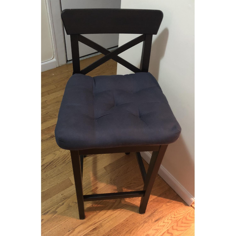 ikea ingolf black bar stools w cushions aptdeco