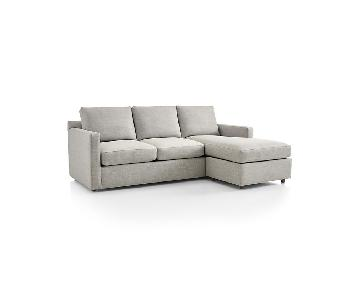 Crate & Barrel Barrett King Sleeper Sectional Sofa
