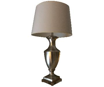 Silver Base Table Lamp