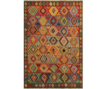 Arshs Fine Rugs Hesperos Brown/Teal Hand-Woven Kilim Rug