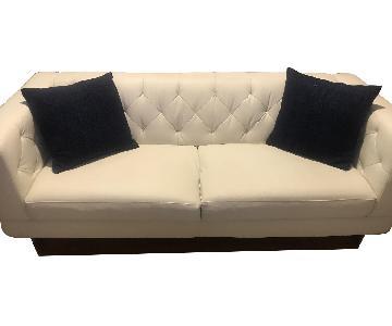 Raymour & Flanigan Tufted Sofa + Chair and a Half & Ottoman