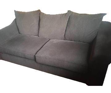 Raymour & Flanigan Dark Brown Sofa