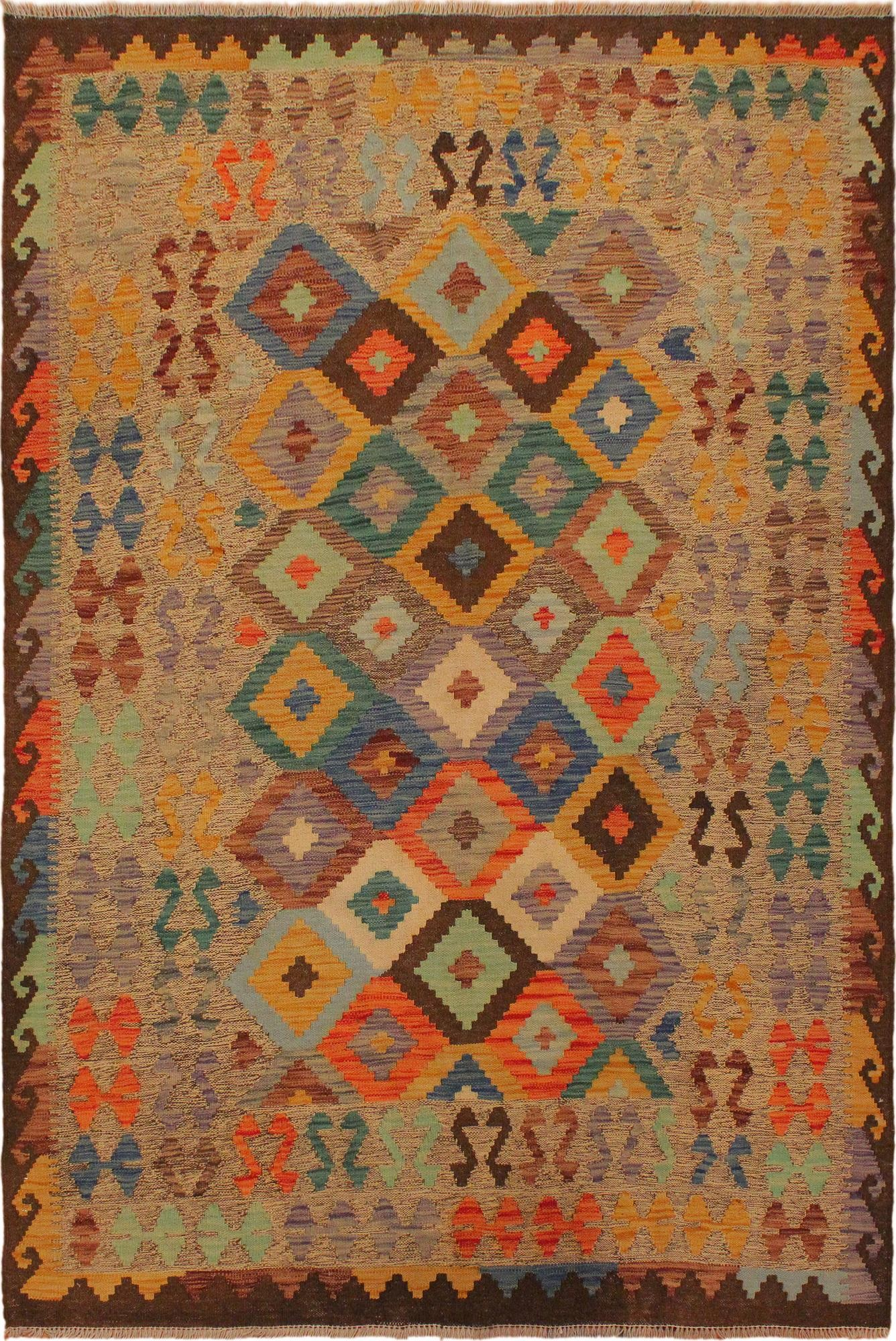 Arshs Fine Rugs Mabeline Gray/Brown Hand-Woven Wool Rug