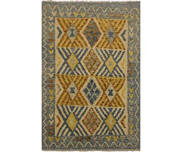 Arshs Fine Rugs Perseus Lt. Blue/Beige Hand-Woven Wool Rug