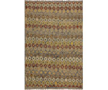 Arshs Fine Rugs Tavish Lt. Blue/Ivory Hand-Woven Wool Rug