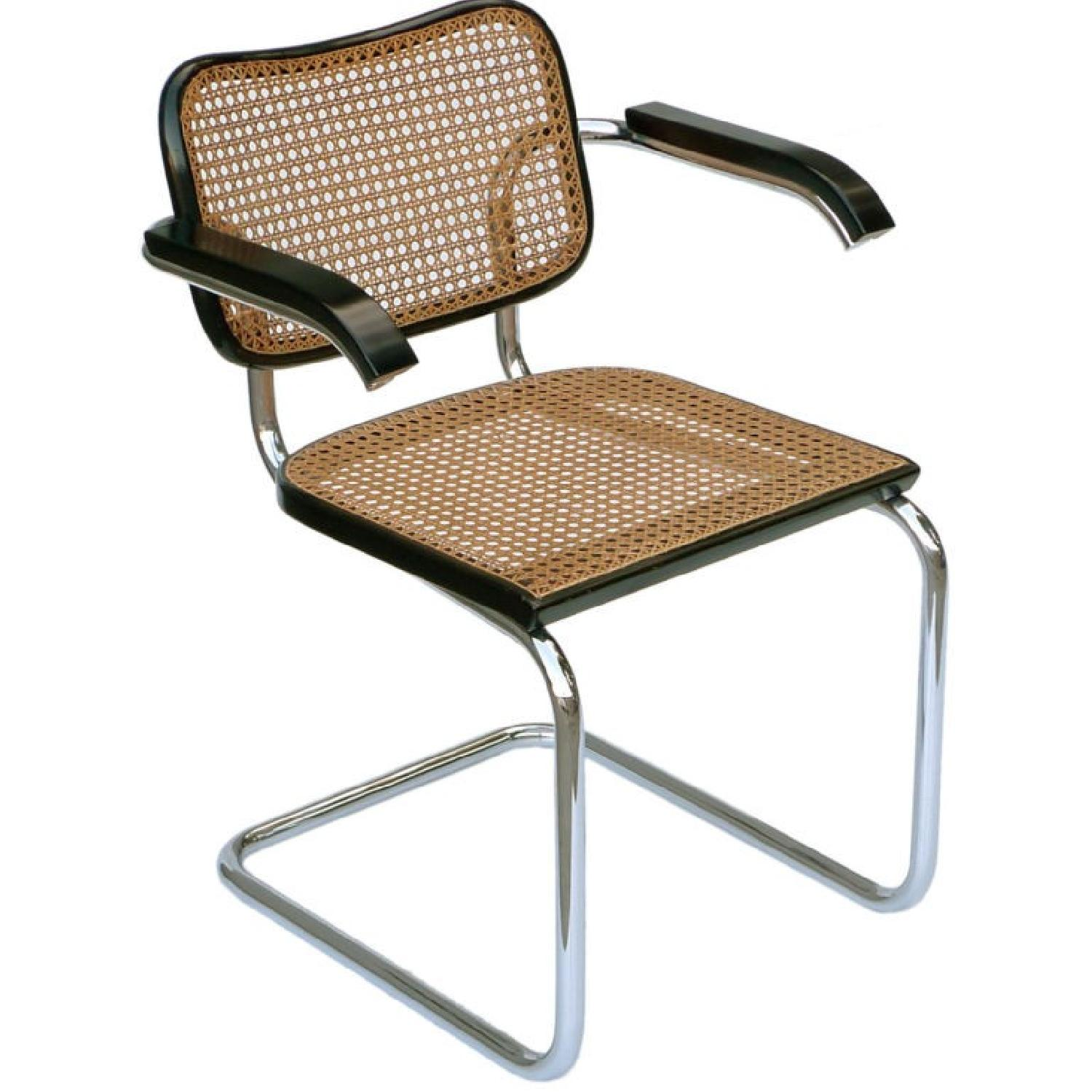 Knoll Cesca Marcel Breuer Cane Chairs In Black ...