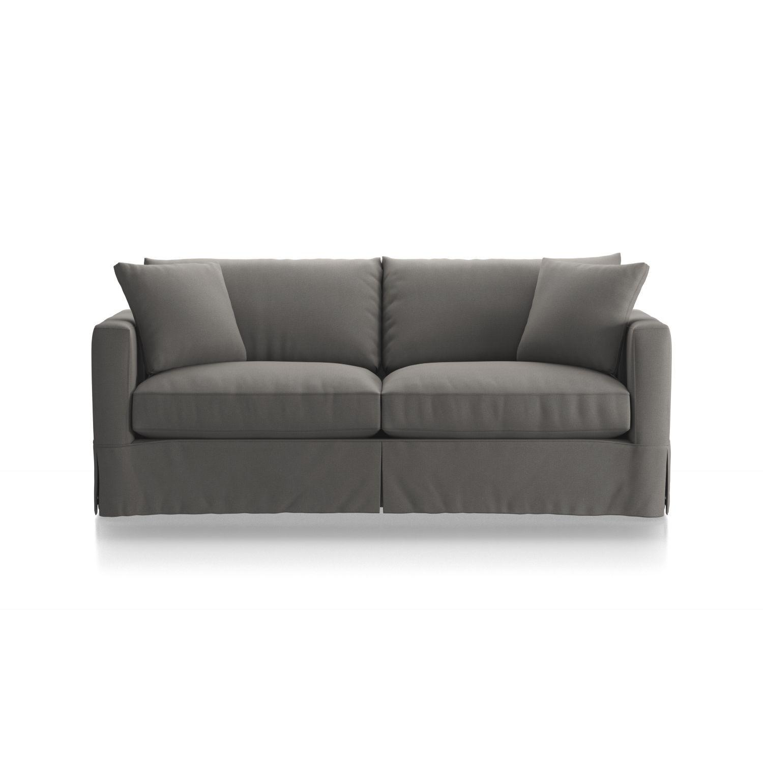 Crate & Barrel Willow Modern Slipcovered Queen Sleeper Sofa