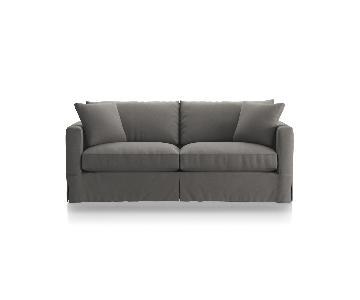 Crate & Barrel Willow Modern Slipcovered Queen Sleeper Sofa