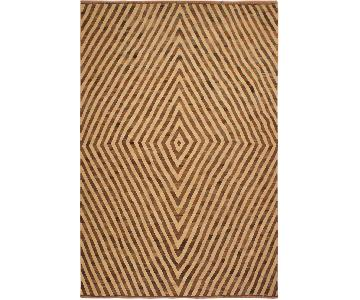 Arshs Fine Rugs Torian Tan/Brown Hand-Woven Kilim Wool Rug