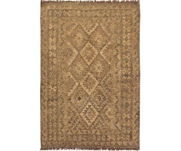 Arshs Fine Rugs Uriela Gray/Brown Hand-Woven Kilim Wool Rug