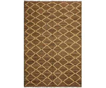 Arshs Fine Rugs Yestin Lt. Brown/Ivory Hand-Woven Wool Rug