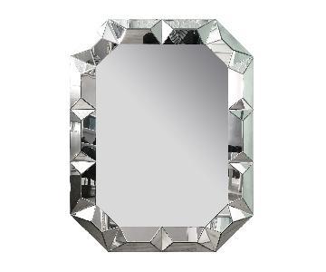 Geometric Cut Surround Octagonal Mirror