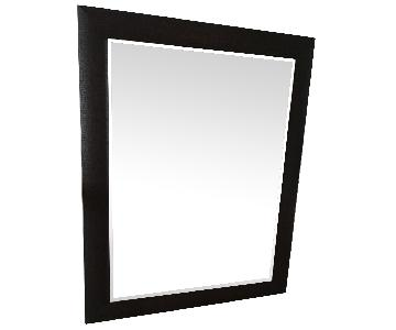 Large Mirror w/ Leather Frame