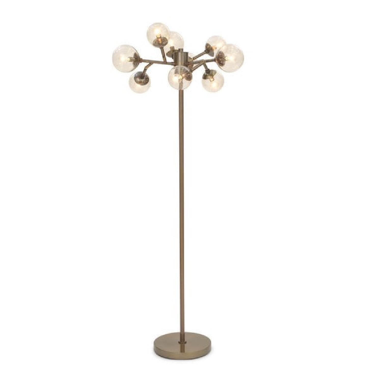 Mitchell Gold + Bob Williams Savoy Vintage Brass Floor Lamp