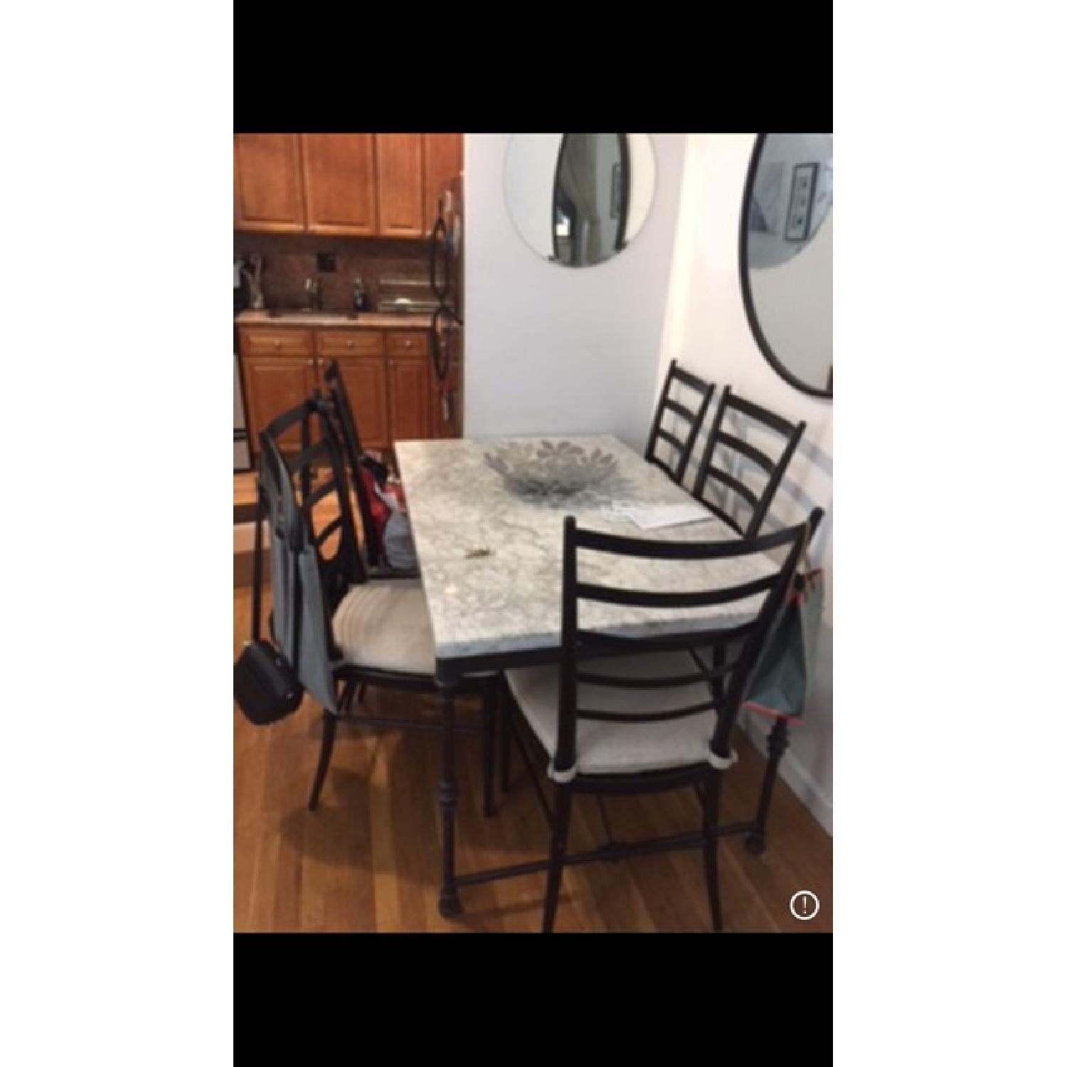 Crate Barrel French Kitchen Table W Marble Top AptDeco - French kitchen table with marble top