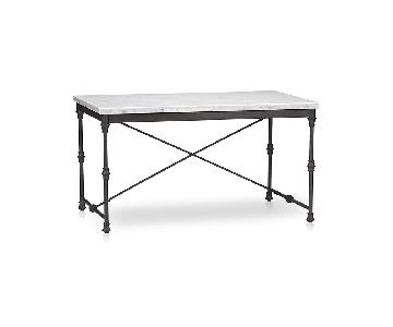 Crate & Barrel French Kitchen Table w/ Marble Top