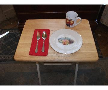 Wooden Folding Snack Trays