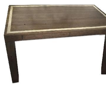West Elm Parsons Desk w/ Bone Inlay