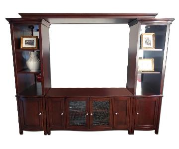 Raymour & Flanigan West End 2 Piece Wall Unit w/ TV Console & Lighting
