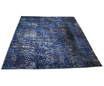 West Elm Distressed Navy/Blue Area Rug