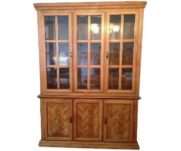 Wood China Display Cabinet