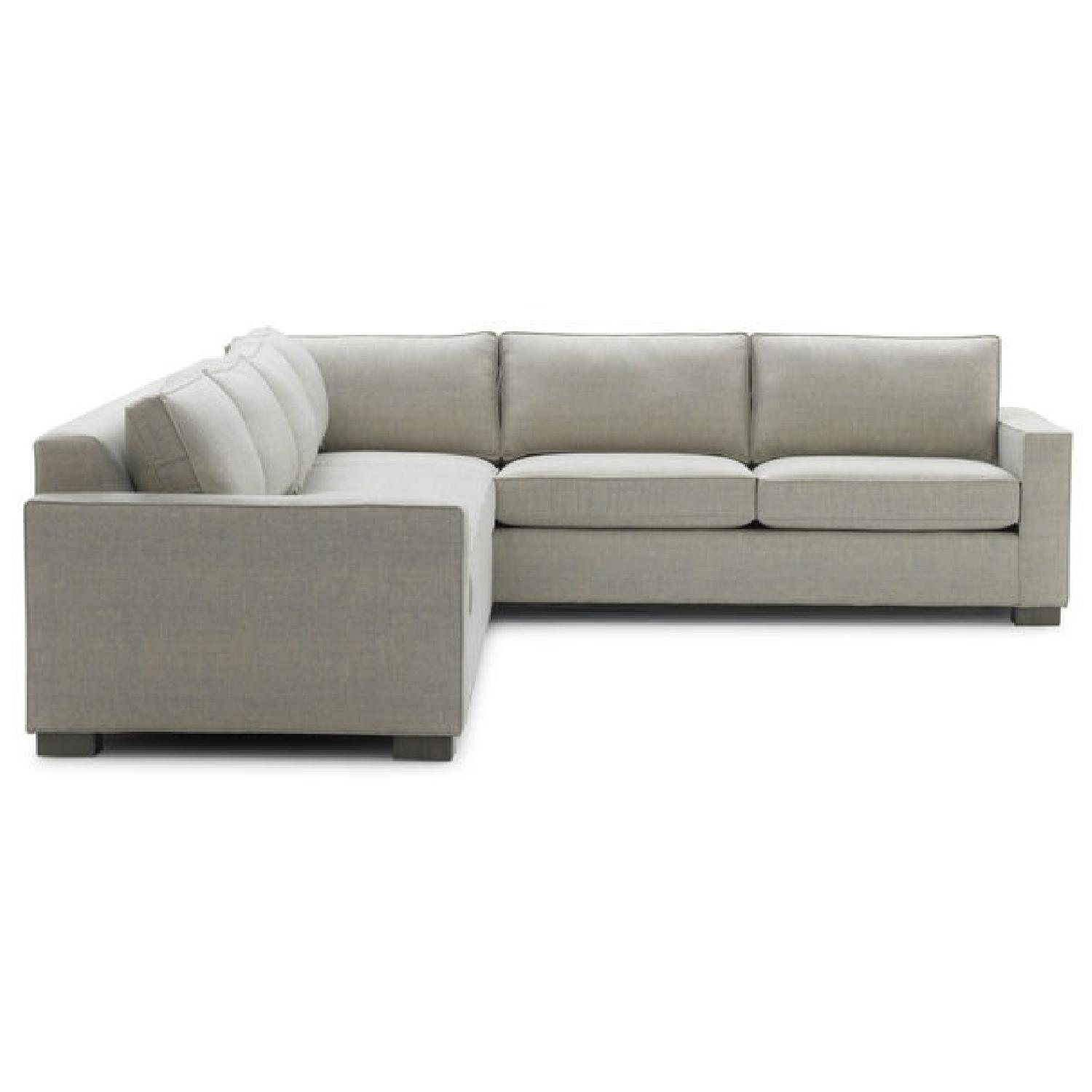 Mitchell Gold + Bob Williams Carson Sectional Sofa In Grey ...