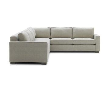Mitchell Gold + Bob Williams Carson Sectional Sofa in Grey