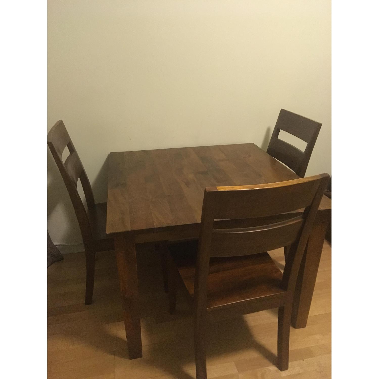 ... Crate U0026 Barrel Square Basque Dining Table W/ 3 Chairs 1 ...