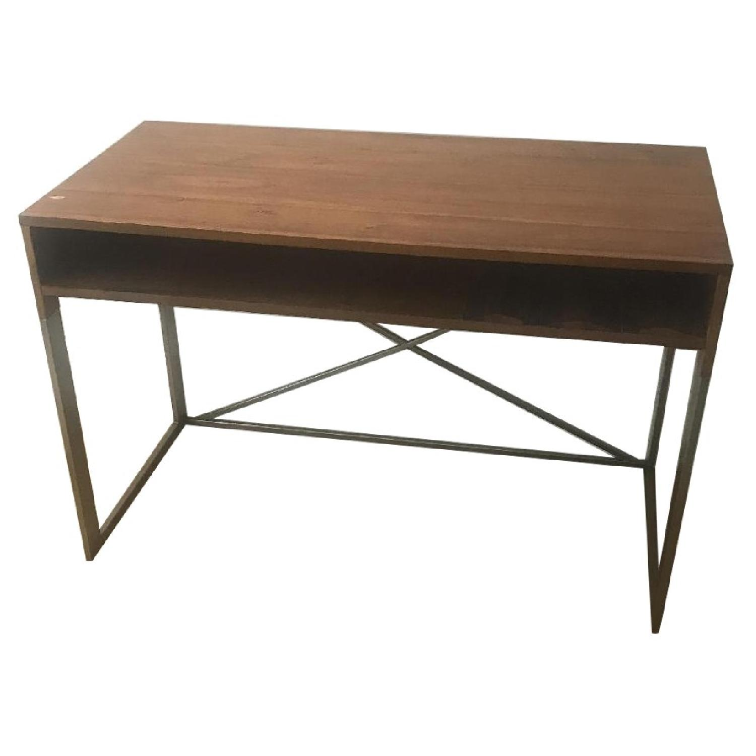 Wood & Metal Desk